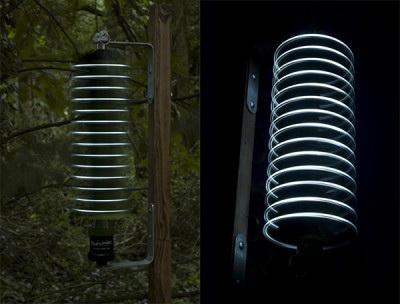 Firewinder - светильник для сада на энергии ветра